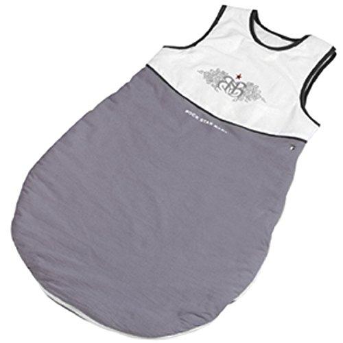 Baumwolle Schlafsack Rock Star Baby, 90 cm, rockiges Design in weiß grau - Baby Kinder Kleinkind Winter