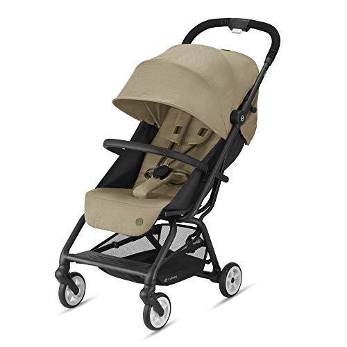 Cybex Gold Eezy S 2 Kinderwagen, Einhand-Faltmechanismus, Classic Beige, Ab Geburt bis 22 kg (ca. 4 Jahre)