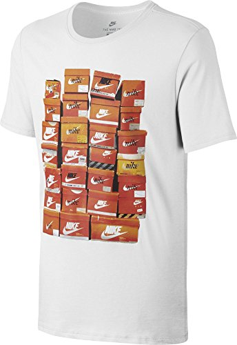 NIKE M NSW tee Vintage Shoebox Camiseta de Manga Corta, Hombre, Blanco...