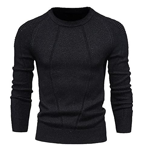 Otoño Invierno Pullover Color Sólido Hombres Suéter O-cuello Suéter Hombres Casual Slim Suéteres para Hombre
