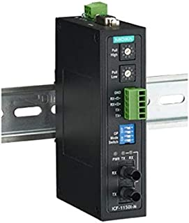 Industrial RS-232/422/485 to Fiber Optic Converter, ST Multi-mode, with 2kV 2-way Galvanic Isolation