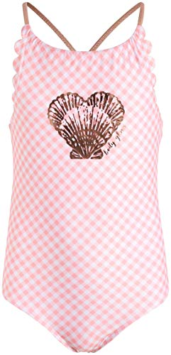 Body Glove Girls One-Piece Swimsuit Bathing Suit in Solids or Prints, Pink Plaid, Size 7