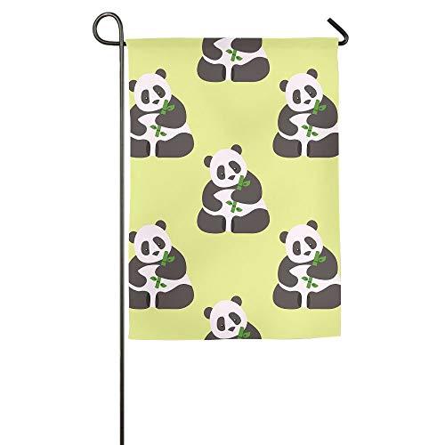 HujuTM Panda Bamboo Home Garden Indoor/Outdoor Flags 18\