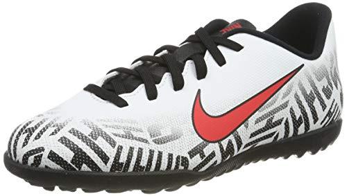 NIKE Jr Vapor 12 Club GS NJR TF, Zapatos de Futsal Unisex Niños, Multicolor (White/Challenge Red/Black 170), 38.5 EU