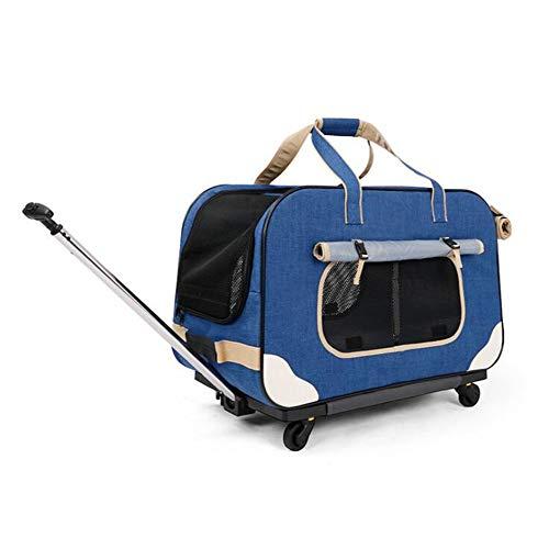 PETEMOO Transportín Plegable para Mascotas con Ruedas extraíbles Bolsa de Transporte para...