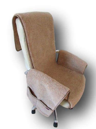 Sesselschoner aus Wolle Alpaca mit Taschen Sesselauflage Überwurf Schurwolle