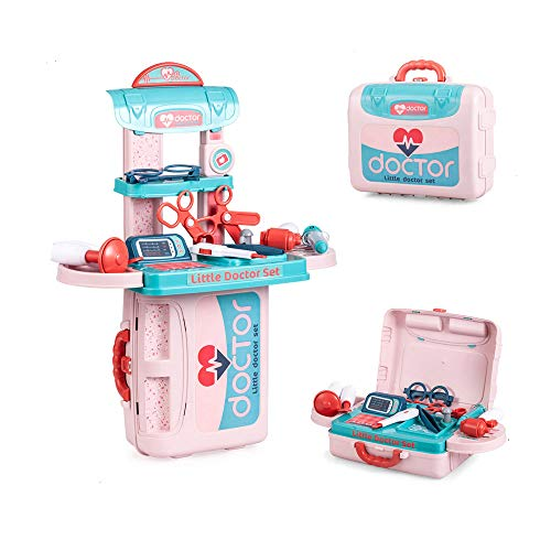 Toy Medical Kits for Kids Doctor Play Set Indoor Family Games Dress Up Costume Role Pretend Playset Toys