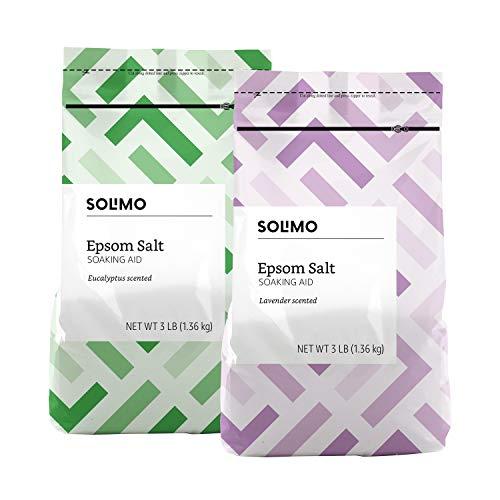 Amazon Brand - Solimo Epsom Salt Soaking Aid, Lavender Scented, 3 Pound & Solimo...