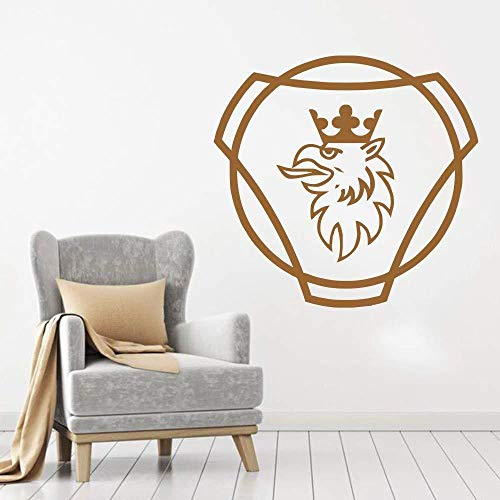 57x60cm Wandaufkleber Scania Bett gebogen abstrakte Jugendaufkleber Haus Fensteraufkleber Kunst Tapete Büroaufkleber Kunst Aufkleber Wanddruck Poster