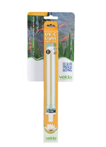 Velda 126620 Ersatz-UV-C Lampe für Elektronische Entferner gegen Grünalgen im Teich, UV-C PL Lampe 11 Watt