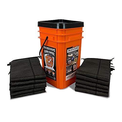 Quick Dam Grab & Go Flood Kit includes 10- 5-ft Flood Barriers in Bucket (QDGG5-10)