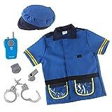 ORTUH Juego de rol de Oficial de policía, Camisa para niños, Sombrero, Silbato, Juego de simulación del FBI, Disfraz de Cosplay para niños, Regalo Divertido para niño o niña