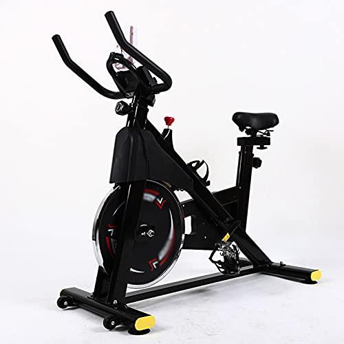 CJDM Bicicletta da Spinning, Cyclette da casa, Attrezzatura per Il Fitness Indoor, Bici a Pedali, Azienda, Attrezzatura per l'allenamento in Palestra, Regalo, Tazza d'Acqua, cardiofrequenzimetro