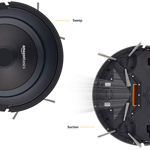 AmazonBasics – Saugroboter, schlankes Design, 18W (800Pa), 4Reinigungsmodi, Antikollisions- & Fallschutz-Sensor, automatische Aufladung, Fassungsvermögen 0,35l, EU - 5
