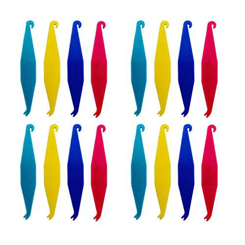 EvaGO Dental Elastic Rubber Bands Placers Disposable Plastic Orthodontic Elastic Placers For Braces, Multi-Color, 30pcs