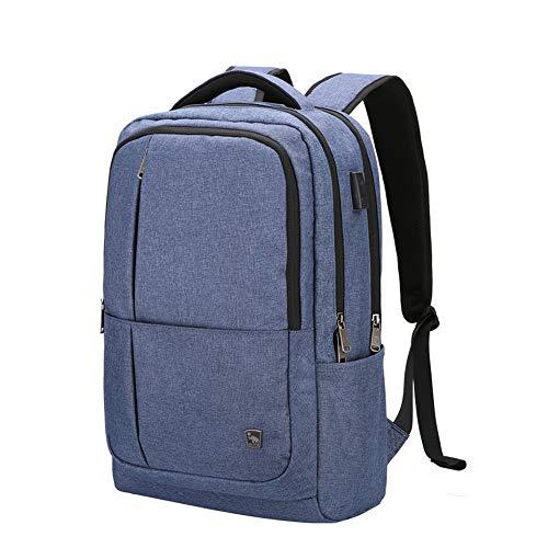 Mochila Mochilas Escolares, Unisex de Carga USB Backpack Resistente, para Adolescente Chicas y Mujeres,Azul