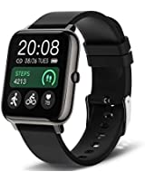 Smart Watch, Popglory Smartwatch with Blood Pressure, Blood Oxygen Monitor, Fitness Tracker with Heart Rate Monitor, Full Touch Fitness Watch for Android & iOS for Men Women