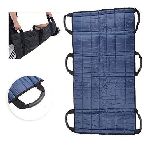Transport Übertragung Boards Medical Aufzug Sling Positionierung Pad Faltbare Patient Hebegurt Rollstuhl-Gürtel (6 Griff)