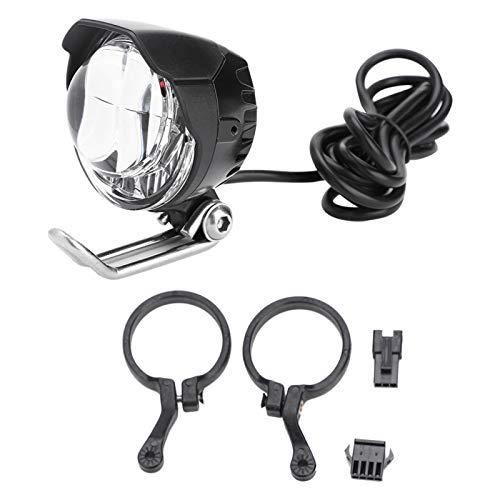 Luz de Bicicleta con bocina, Faros LED de Bicicleta para ciclomotor de Scooter de Bicicleta eléctrica