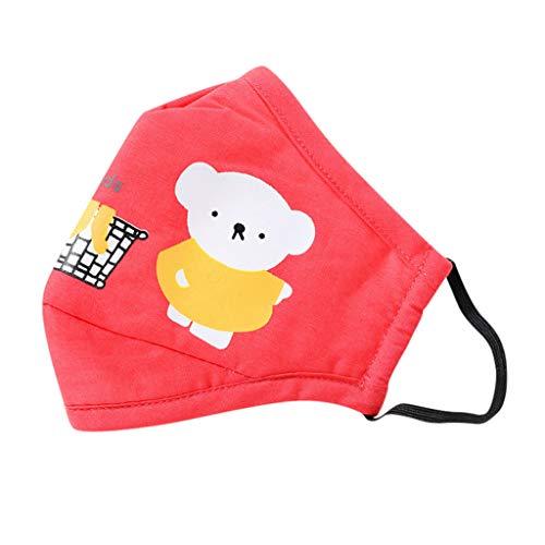 ONTO-MATO Children Cartoon Pattern pad 1PC Reusable Dustproof Adjustable Strap Cover Towel (Red)