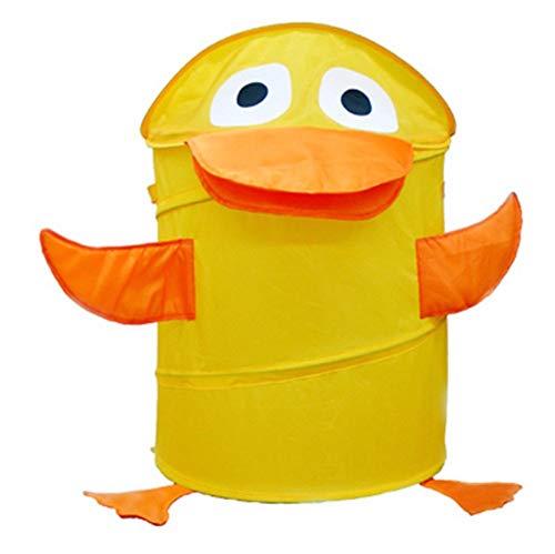 CEsto de ropa sucia amarillo en forma de pato