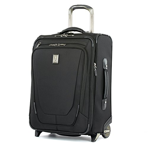 Travelpro Crew 10-Business Plus Softside Expandable Upright Luggage, Black, Carry-On 20-Inch