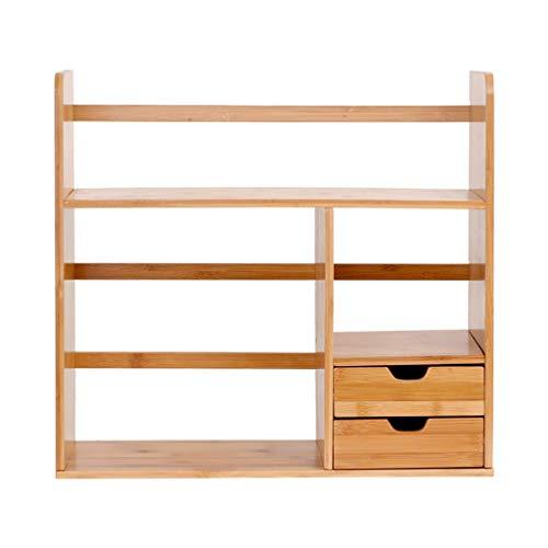 TLMYDD Estantería de escritorio para libros, estante de almacenamiento de comestibles, estante de escritorio, estante de suelo multicapa, 48 x 19 x 46 cm, estantería (tamaño grande: grande)