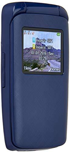 "Celular Flip Dual SIM FM Câmera Digital, DL YC335AZU, 32MB, 1.8"", Azul"