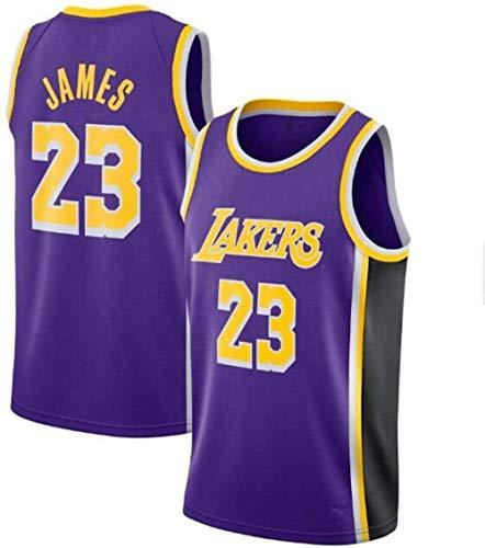 Zxwzzz Uniforme Los Angeles Lakers No.23 Baloncesto, Lebron James Summer Sports NBA Jersey, Adulto Y Uniformes De Baloncesto De Los Niños, Baloncesto Jersey Gran (Color : Puple, Size : Small)