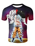 Camiseta Dragon Ball Niño Unisex 3D Impresión Hombres Camisetas y Camisas Deportivas Camisetas de Manga Corta T Shirt Fresco Dibujos Animados de Fans Streetwear Camisetas de Verano (TX-QLZ-0757, S)