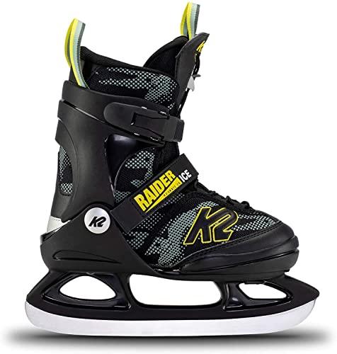 K2 Skates Jungen Schlittschuhe Raider Ice — Green - Yellow — EU: 35 - 40 (UK: 3 - 7 / US: 4 - 8) — 25E0010