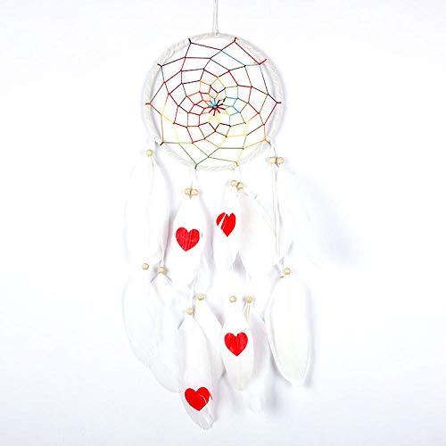 EastMetal Atrapasueño Grande Blanco Dream Catcher Hecho a Mano Atrapasueños Grande Decoracion para Craft DIY Dream Catcher Coronas...