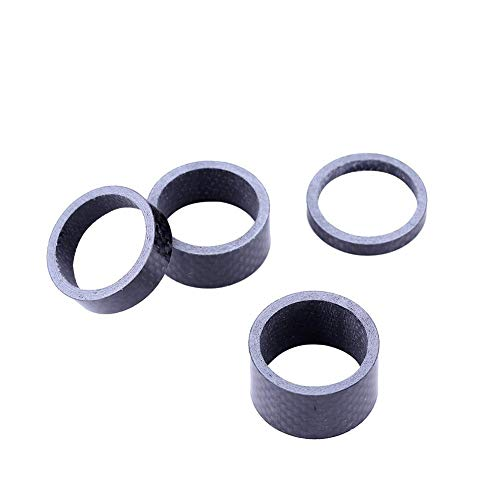 Dioche Fahrrad Headset Spacer, Full Carbon Fahrrad Mountainbike Headset Gabel Stamm Spacer 5/10/15/20 MM - 2