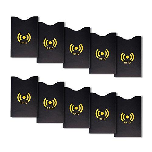 SO Schramm® 10 stuks kaartenbeschermhoezen RFID Blocking NFC Beschermhoes voor bank/creditcards identiteitskaart bankpas creditcardhoes kredietkaartenhoes Beschermhoes
