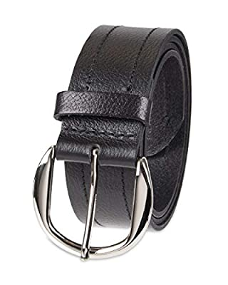 NYDJ Women's 100% Leather Casual Belt, black, Medium