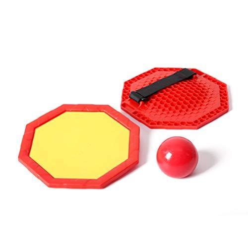 FUSTMS Raqueta de lanzamiento, raqueta de bolas con ventosa para jardín de infancia, no tóxica, resistente al desgaste, juguetes para niños al aire libre, regalos de fiesta de cumpleaños para niños