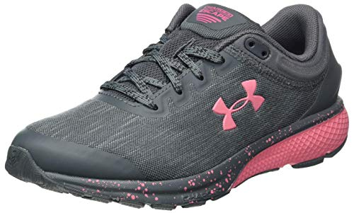 Under Armour womens Charged Escape 3 Evo Running Shoe, Mod Gray (102 Pink Lemonade, 8 US