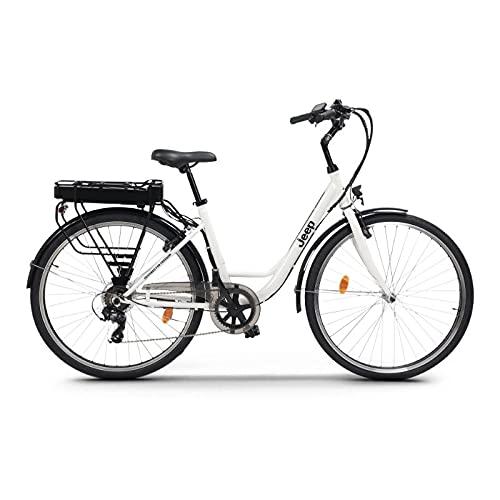 Jeep City E-Bike White, Bici Unisex adulto, large