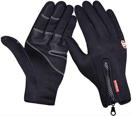 Guantes cálidos de invierno invierno guantes de bicicleta al aire libre a prueba de viento Guantes de pantalla táctil a prueba de viento Guantes de ciclismo caliente for esquiar Camping Senderismo Run