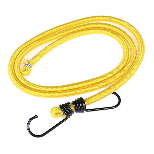 Elástica Cuerda elástica Banda de Metal Ligero Gancho del Cable de Bicicletas Que ata el Coche de Equipaje Porta Equipaje Cinturón Gancho de Herramientas al Aire Libre Nbxypeaus (Color : Yellow)