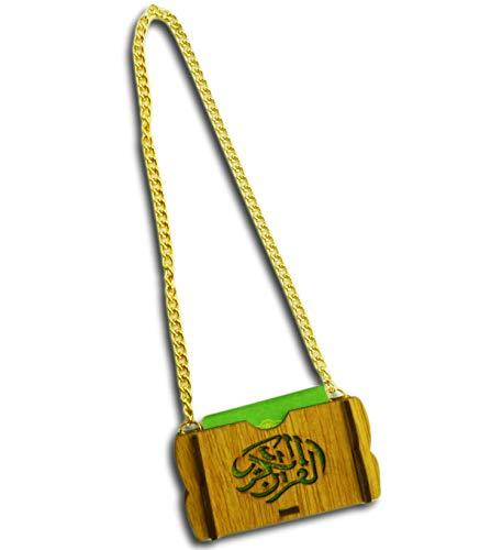 Ramadan24 Islamische Auto Rückspiegel Anhänger Kleiner Koran Schutz Innenspiegel Auto Spiegel PKW Arabisch Dekor Geschenk