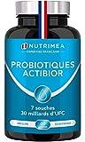Probiotiques 30 Milliards UFC/jour enrichis en Prébiotiques - Multi-souches des ferments lactiques les plus actives dont Lactobacillus - Gélules végétales gastro-résistantes - Confort Digestif - ACTIBIOR - NUTRIMEA - Fabriqué en France