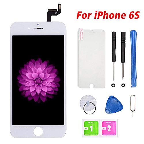 for iPhone 6s Screen Replacement LCD Display & Touch Screen Digitizer Frame Assembly with Repair Tools (iPhone 6s, White 4.7'')