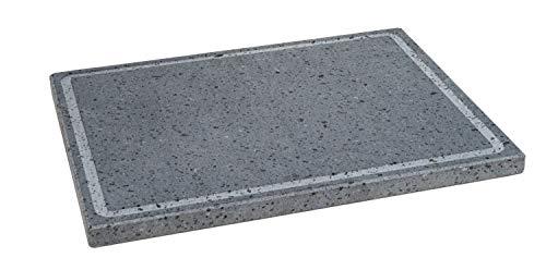 Etna Stone & Design Lava Grill_BISTECCHIERA Pietra LAVICA ETNEA Piastra LEVIGATA 40x30 cm per Forno E Barbecue Cottura Carne, Pesce, Verdura E Pizza (M)