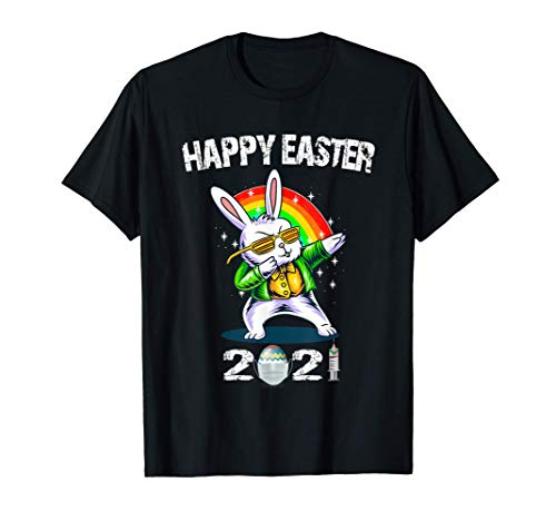 Dabbing Rabbit Easter Day_Easter 2021 T-Shirt