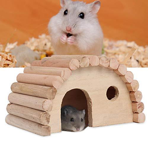 Sheens Casa de hámsters de Madera Natural Hábitat de anidación de Animales pequeños Juguete Seguro para Masticar Juguete para Conejillos de Indias Hamster Chinchilla y Otras Mascotas