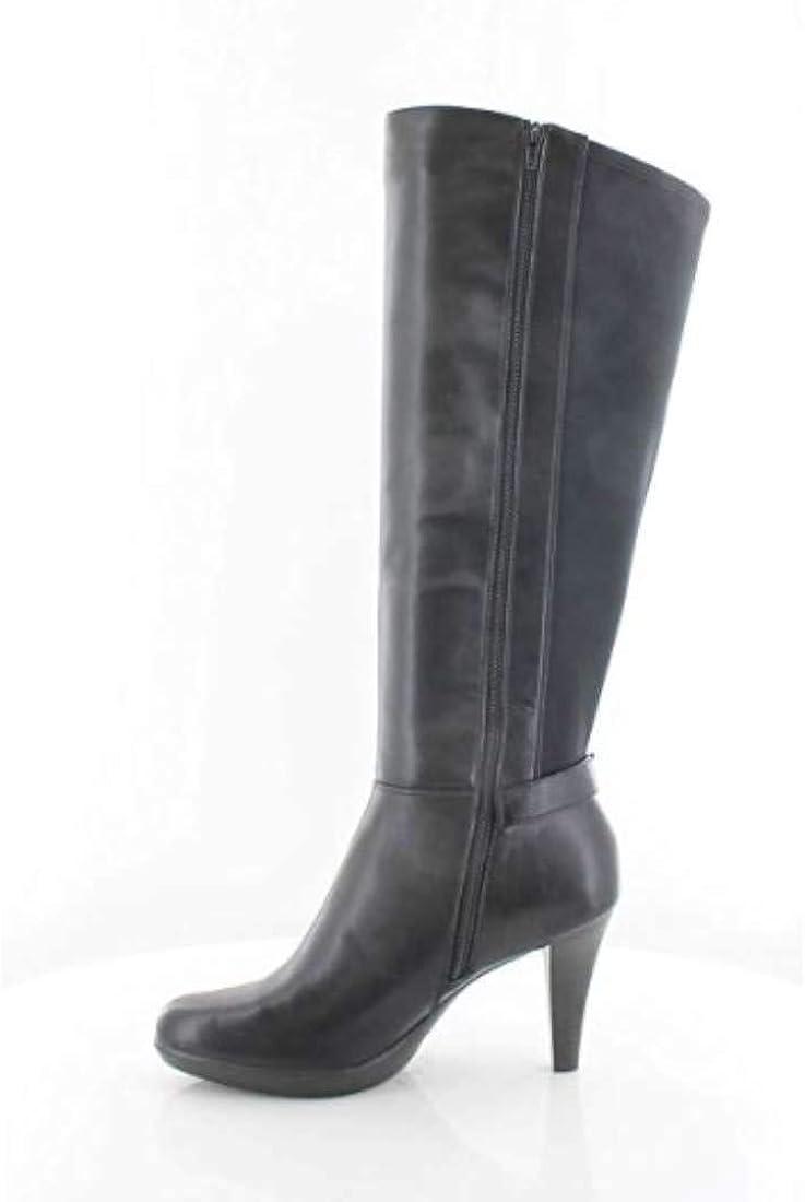 Alfani Womens Vennuss Almond Toe Mid-Calf Fashion Boots, Black, Size 6.5