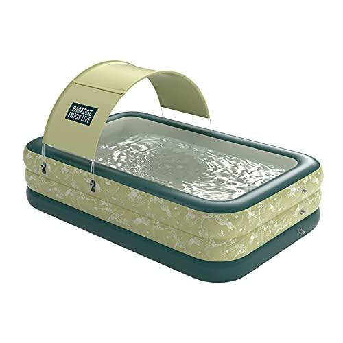 MiQueen Piscina Inflable Piscina de tamaño Completo Adecuado para niños Adultos Jardines Patios Traseros Centros de natación al Aire Libre Fiestas acuáticas Piscinas Familiares
