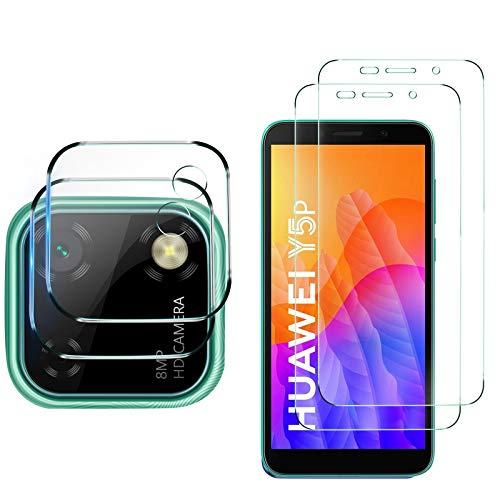 MSOVA para Huawei Y5P Protector de Pantalla +Protector Cámara,Cristal Templado Alta Definición Resistente a Arañazos...