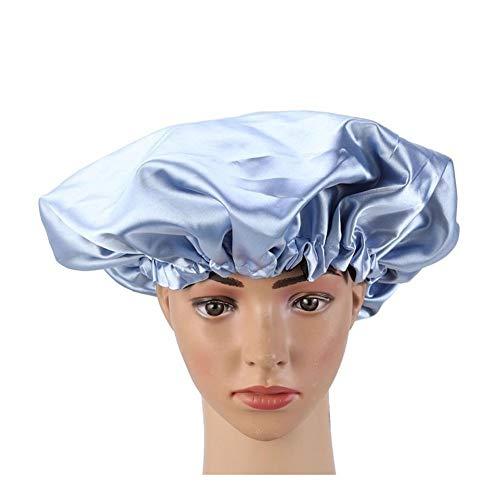 QHKS Bonnet à double couche pour dormir bleu